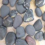 Black slate Pebble