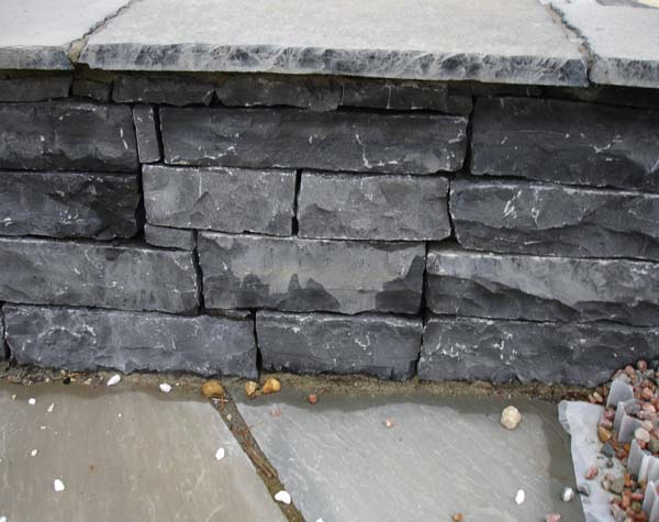 Black Lime stone Walling