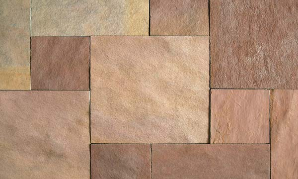 Kota Pink natural sawn edges