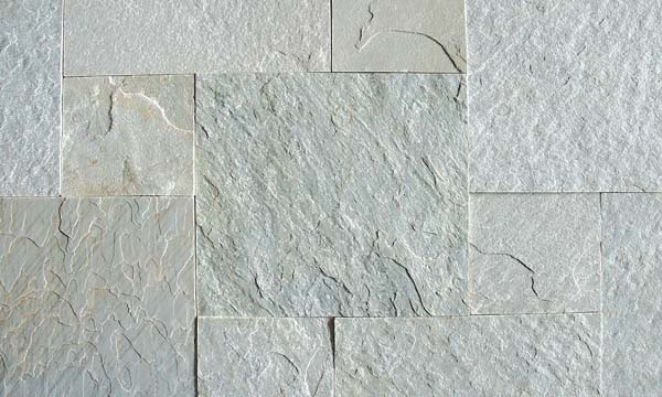 Himachal white Sawn Edges and Natural Surface Tiles