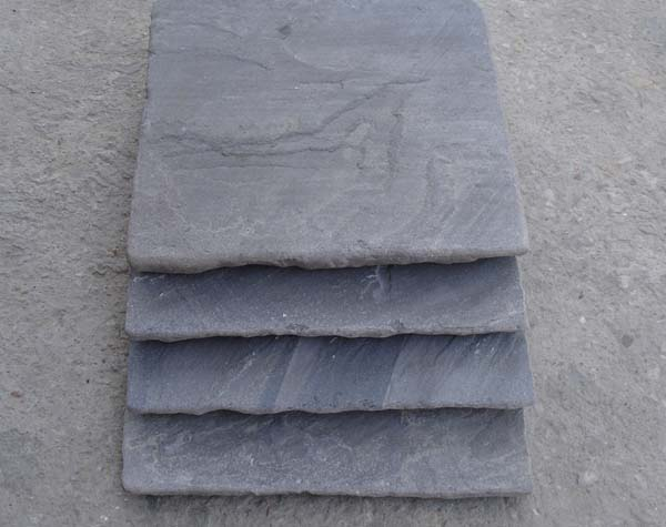 Black Sandstone Handcut edges and vibrated (Tumbled)