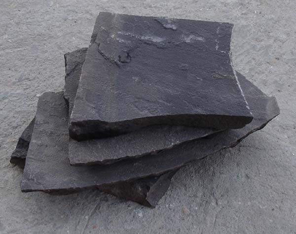 Black sandstone crazy paving