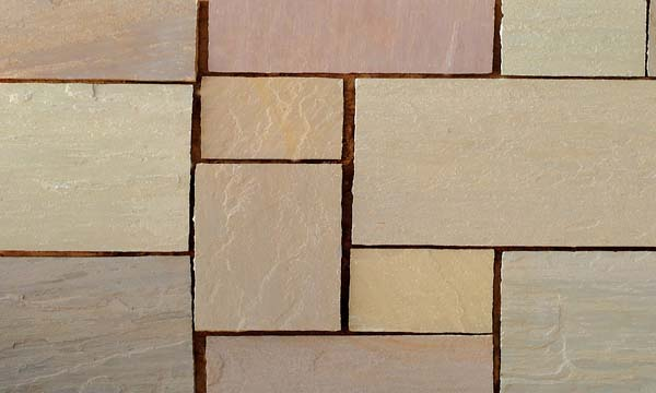 Autumn Brown Handcut paving