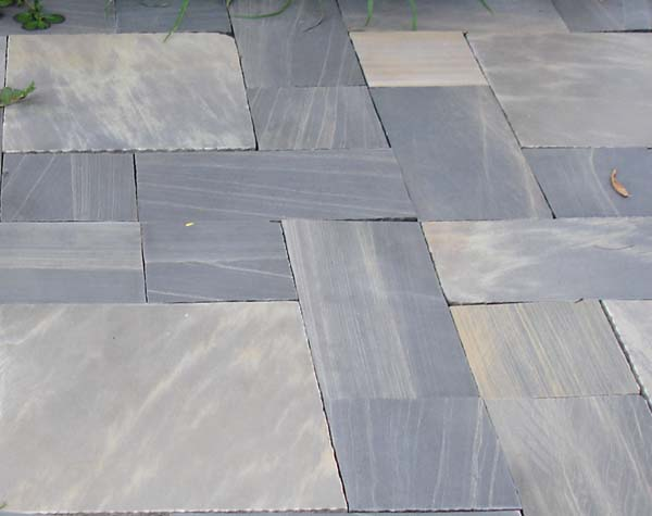 Black Sand Stone Paving Honed Surface
